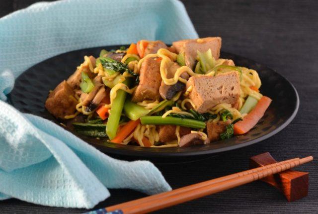 Tofu Puff Stir Fry | I Spy Plum Pie