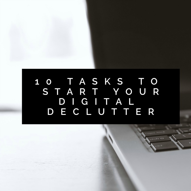 10 Tasks to Start Your Digital Declutter | I Spy Plum Pie