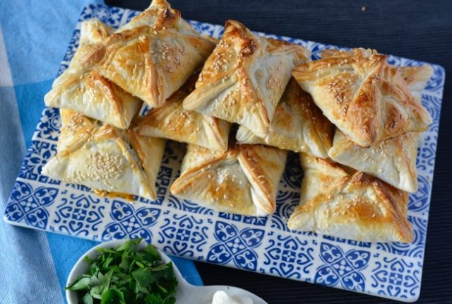 Silverbeet Haloumi Pies | I Spy Plum Pie