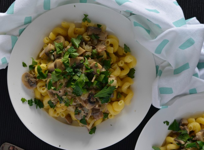 White Wine and Mushroom Pasta | I Spy Plum Pie