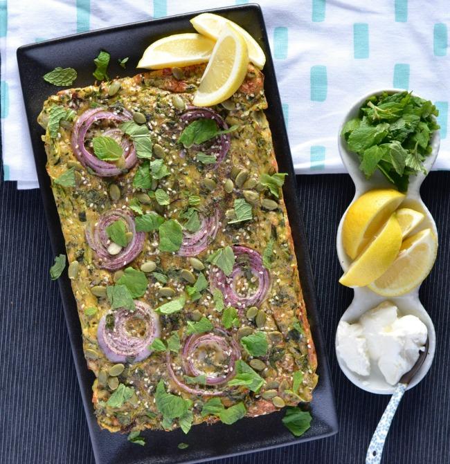 Zucchini Haloumi Slice | I Spy Plum Pie