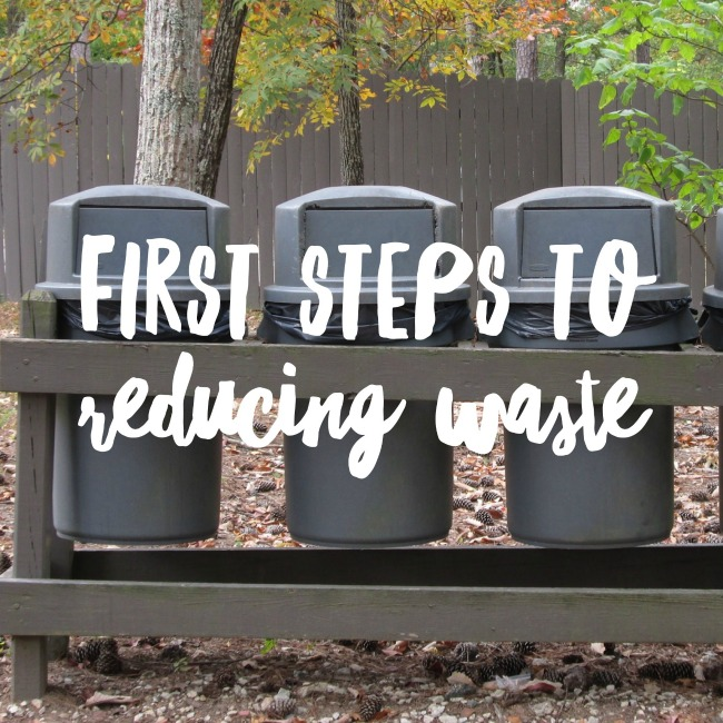 First steps to reducing waste | I Spy Plum Pie