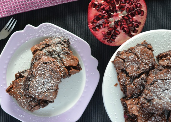Pomegranate Brownies | I Spy Plum Pie