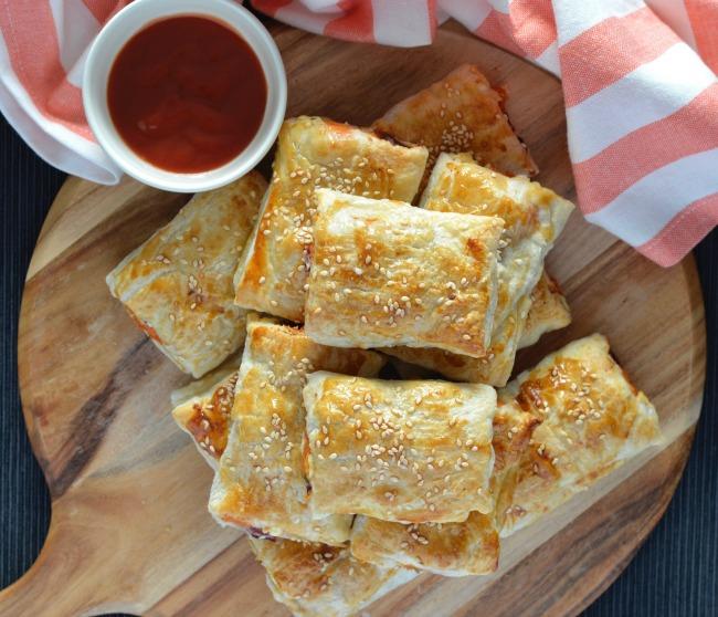 Sweet Potato Feta Sausage Rolls | I Spy Plum Pie