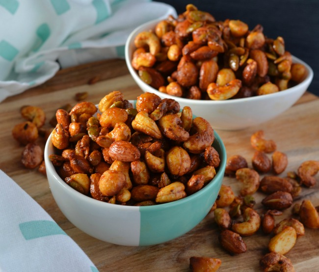 Honey Paprika Spiced Nuts | I Spy Plum Pie