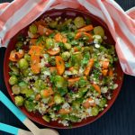 Recipe: Brussels Sprout and Sweet Potato Israeli Couscous Salad