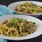 Recipe: Garlic Herb Mushroom Pasta