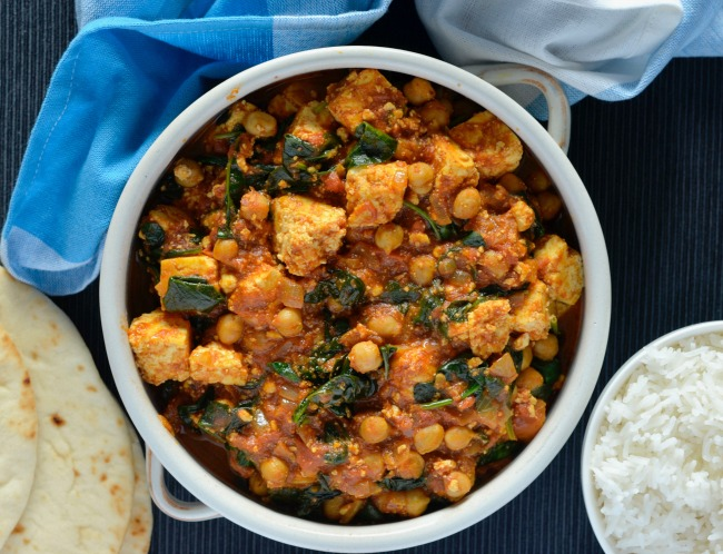 Paneer Spinach Curry | I Spy Plum Pie