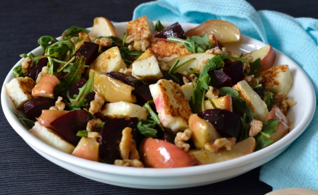 Roast Beetroot, Apple & Haloumi Salad | I Spy Plum Pie