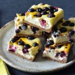 Recipe: Blueberry Passionfruit Cheesecake Slice