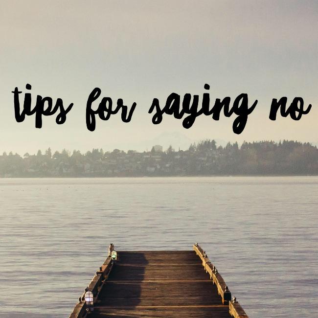 Tips For Saying No | I Spy Plum Pie