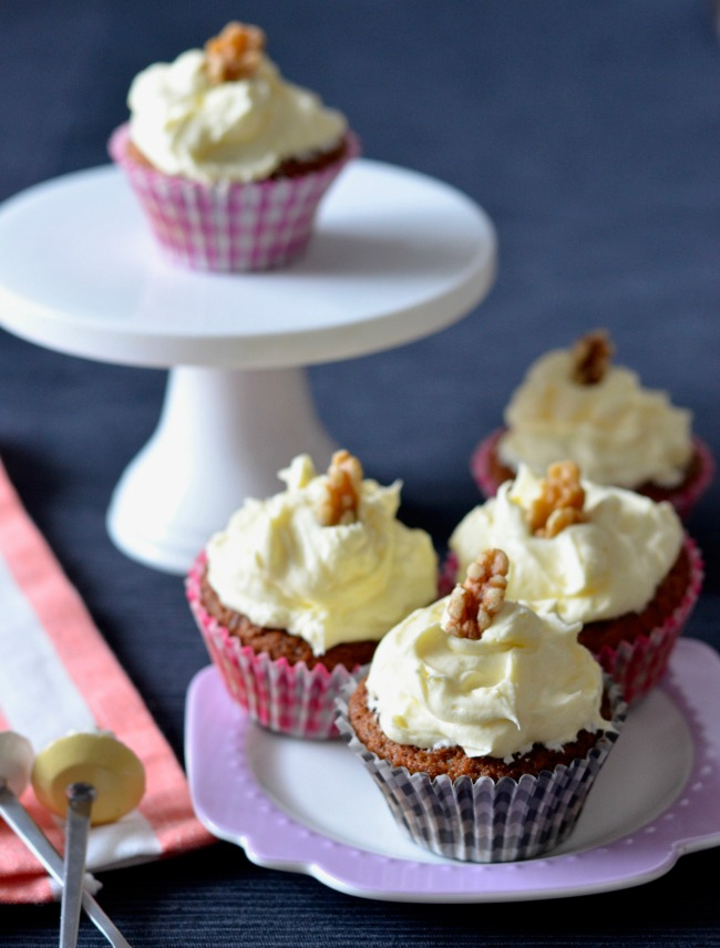 Carrot Cake Cupcakes | I Spy Plum Pie
