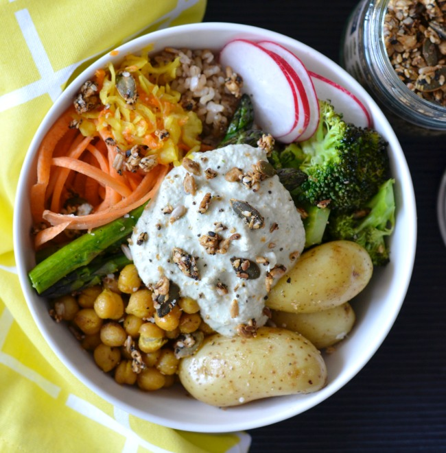 Spring Chickpea Buddha Bowl | I Spy Plum Pie
