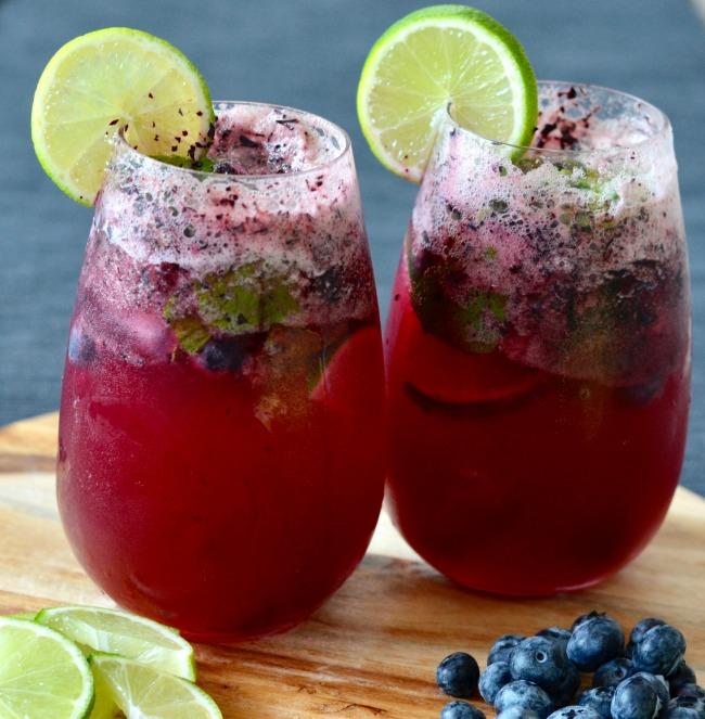 Blueberry Lime Mojito | I Spy Plum Pie