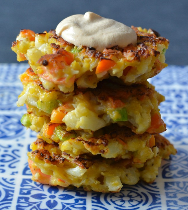 Cauliflower Carrot Fritters | I Spy Plum Pie