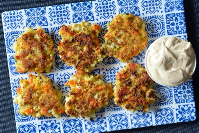 Cauliflower Carrot Fritters | I Spy Plum Pie