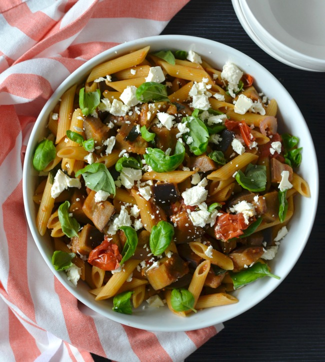 Eggplant Chilli Pasta | I Spy Plum Pie