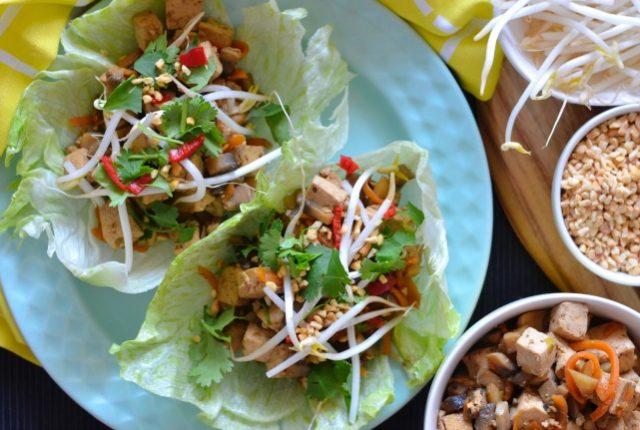 Mushroom Tofu San Choy Bau | I Spy Plum Pie