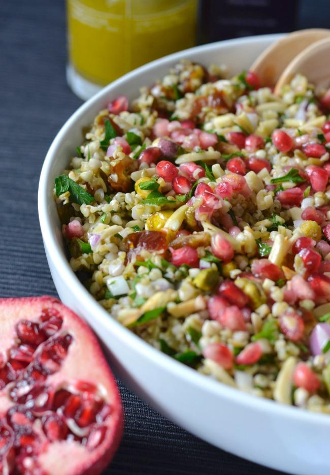 Freekeh and Buckwheat Pomegranate Salad | I Spy Plum Pie