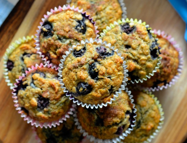 Healthy Banana Blueberry Muffins | I Spy Plum Pie