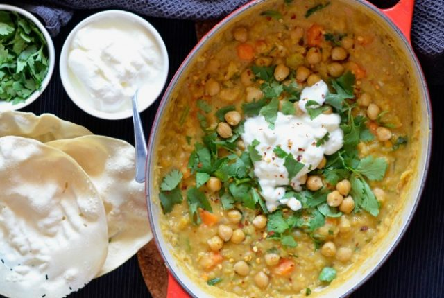Red Lentil Sweet Potato Dhal | I Spy Plum Pie