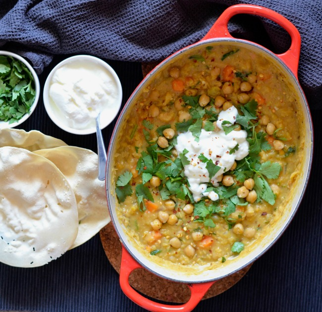 Red Lentil Sweet Potato Dahl | I Spy Plum Pie