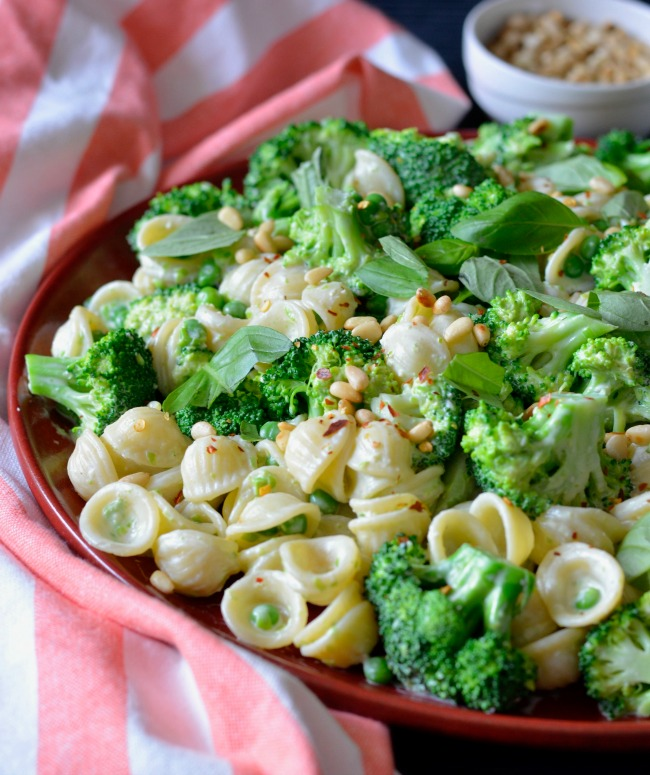 Broccoli Pea Pasta Salad | I Spy Plum Pie