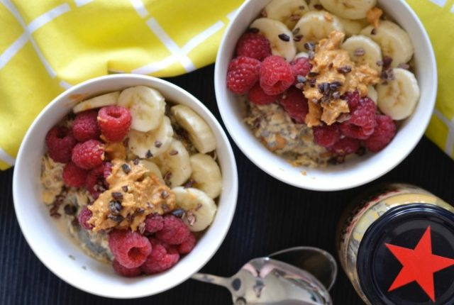 Peanut Butter Overnight Oats | I Spy Plum Pie