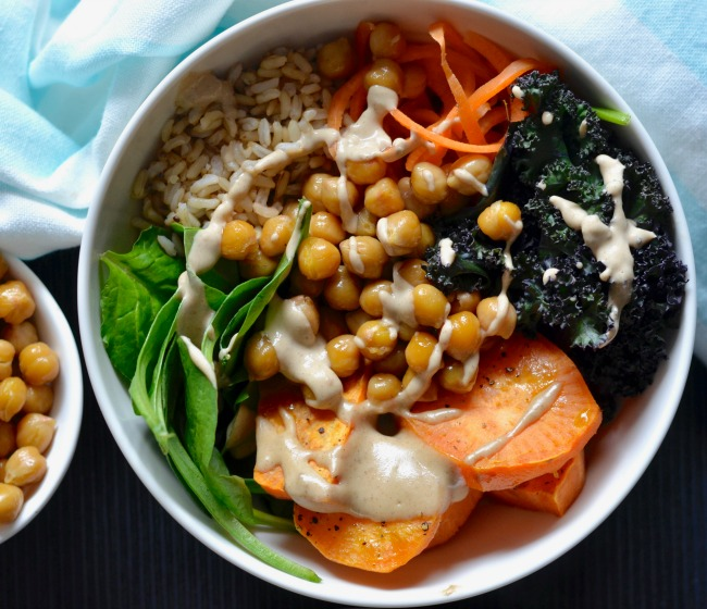 Chilli Lime Chickpea & Sweet Potato Bowls | I Spy Plum Pie