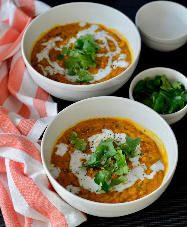 Lentil Tomato Coconut Soup | I Spy Plum Pie