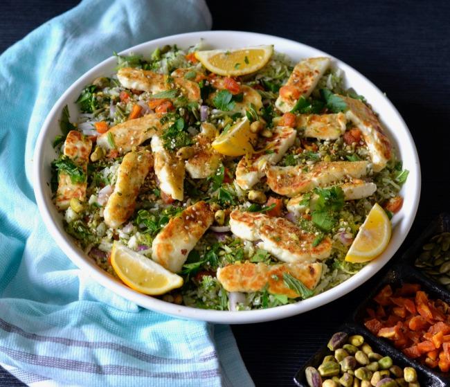 Haloumi with Broccoli and Cauliflower | I Spy Plum Pie