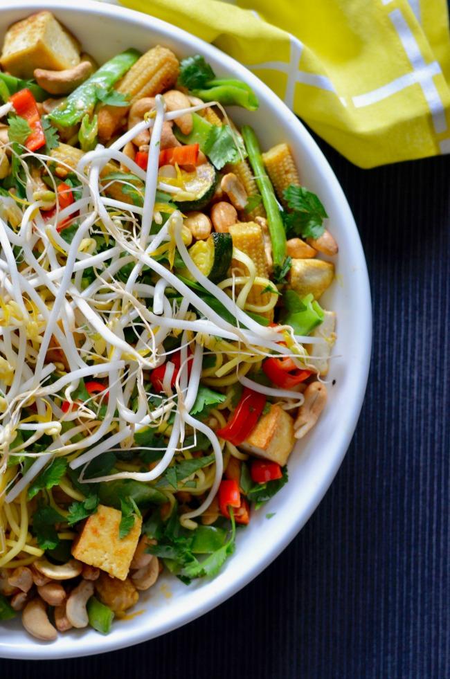 Zucchini Tofu Noodles | I Spy Plum Pie