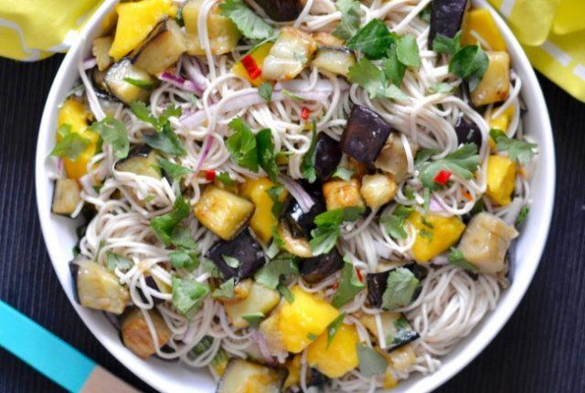 Eggplant Mango Soba Salad | I Spy Plum Pie