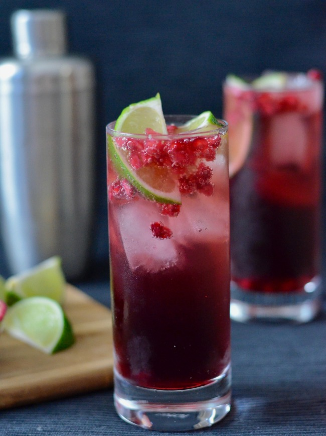 Pomegranate Lime Cocktail | I Spy Plum Pie