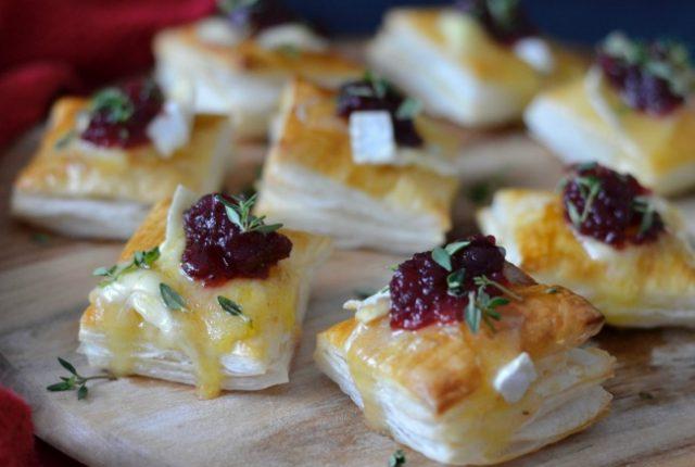 Cranberry Brie Pastry Bites | I Spy Plum Pie