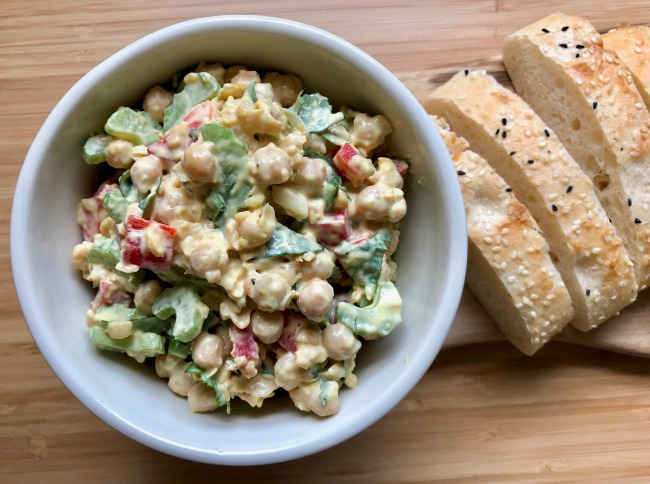 Chickpea Celery Salad | I Spy Plum Pie