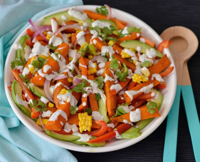 Sweet Potato Avocado Salad | I Spy Plum Pie