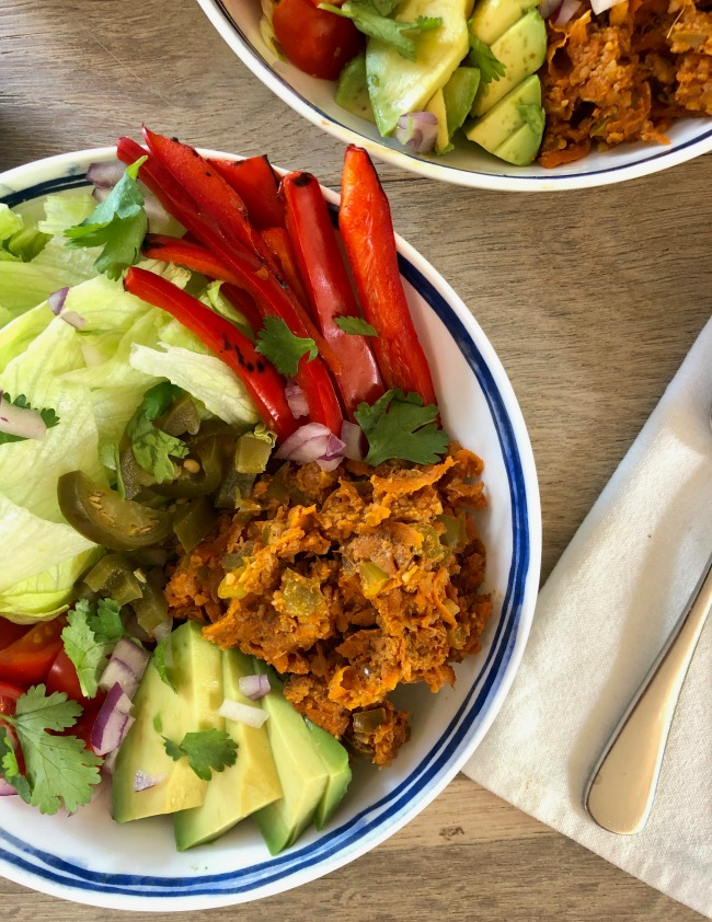 Carrot Walnut Taco Mince | I Spy Plum Pie