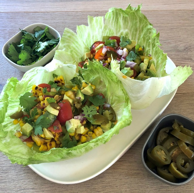 Grilled Corn Lettuce Cups | I Spy Plum Pie