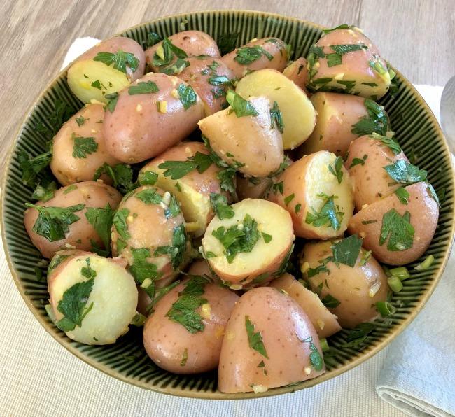 Lemon Parsley Potato Salad | I Spy Plum Pie