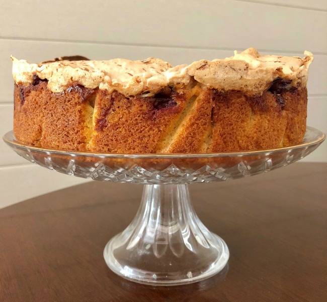 Cherry Coconut Macaroon Cake | I Spy Plum Pie