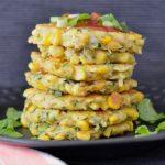 Recipe: Corn, Zucchini and Chickpea Fritters