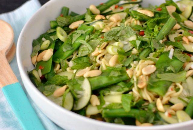 Peanut Herb Noodle Salad | I Spy Plum Pie