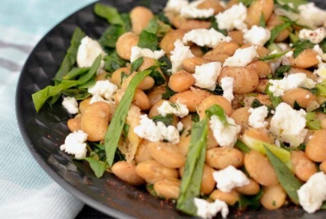 Butterbeans with Spinach and Feta | I Spy Plum Pie