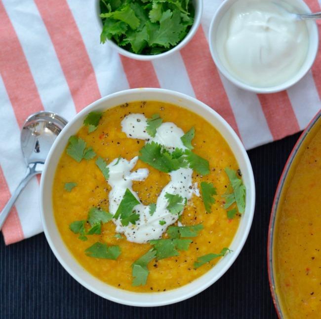 Carrot Parsnip and Sweet Potato Soup | I Spy Plum Pie
