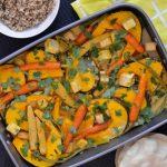 Recipe: Pumpkin Tofu Curry Tray Bake