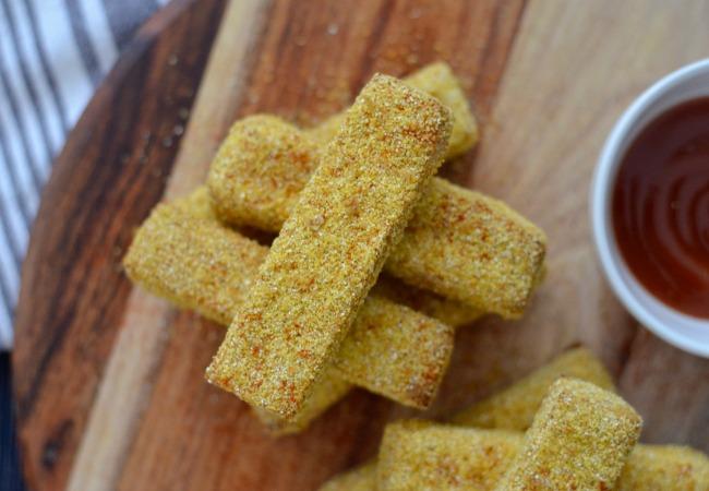 Polenta Crusted Tofu | I Spy Plum Pie
