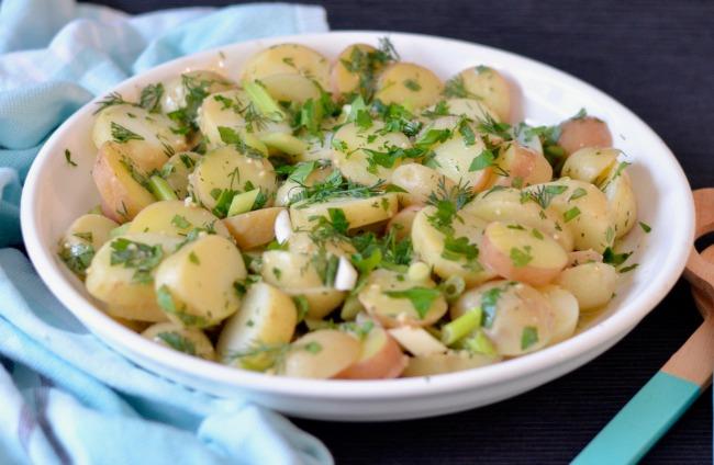 Herb Vinaigrette Potato Salad | I Spy Plum Pie