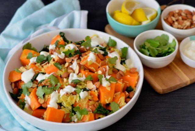 Sweet Potato Kale Pilaf | I Spy Plum Pie