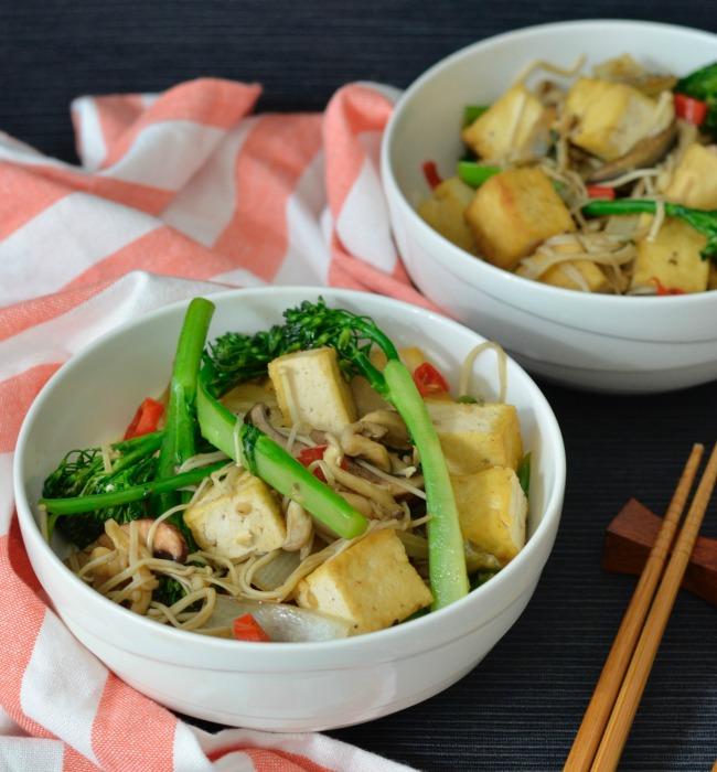 Tofu Mushroom Stir Fry | I Spy Plum Pie